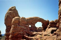 Arches N.P., Turret Arch, Utah VS 1992 (wally nelemans) Tags: archesnp turretarch natuurlijkeboog utah vs usa 1992