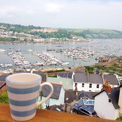 (sianicolallen) Tags: vacation holiday cup beautiful sunshine tea harbour relaxing devon dartmouth dartmouthharbour