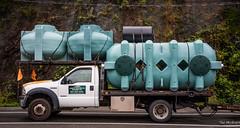 2016 - Horseshoe Bay - Tanks to You (Ted's photos - For Me & You) Tags: 2016 bc tedmcgrath tedsphotos cropped vignetting nikon nikonfx nikond750 truck wheels septictanks tanks chain trailer