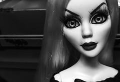Evangeline Ghastly (welovethedark) Tags: blackandwhite doll iphone creepydoll mortallove wildeimagination iphonephoto evangelineghastly