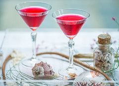 Cocktail (yana_davydova) Tags: red table drink cocktail seashell decor conchiglia tabledecor