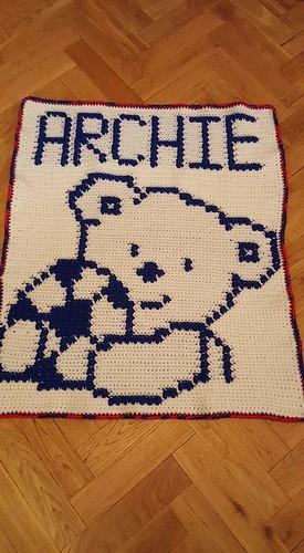Bear blanket for Archie