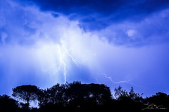 Provenal Lights III. (Tristan K.) Tags: clair lightning thunder tonnerre orage storm weather tempest tempte clouds nuages sky ciel flash shadow ombres night nuit nocturne roquebrunesurargens rocherderoquebrune lights