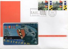 SAIL 1995 (streamer020nl) Tags: amsterdam 1 stamps ships sail 1995 xxx phonecard briefmarken timbres postzegels shelltoren overhoeks telefoonkaart sail95 teleletter telebrief