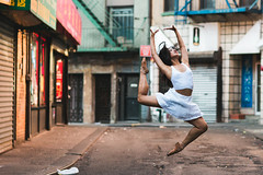 Breaking Silence (cvillandry (Instagram & Twitter @cvillandry)) Tags: doyersstmanhattan ballet chinatown dance dancer newyork nyc pointe streetphotography canon 85mml12