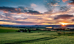 See you again (Brannan Photography) Tags: sunset sky cloud sun water field canon river landscape countryside village farm country tay crop rays agriculture canon700d