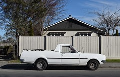 1972 Holden Kingswood (stephen trinder) Tags: stephentrinder stephentrinderphotography christchurchnewzealand christchurch nz newzealand landscape aotearoa ute utility pickup 1972 holden kingswood white winter profile work aussie fence house
