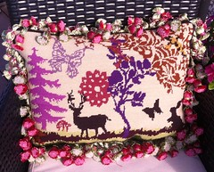Enchanted Forest Needlepoint Pillow (victowood) Tags: needlepoint englisheccentrics ehrman handmade pillow