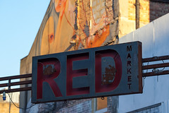 RED (Florian Btow) Tags: red 135mm sign market architecture urban london street city old rusty