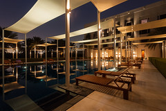 The Chedi (gordons-joint) Tags: travel pool night hotel swimmingpool oman muscat thechedi