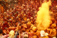 Spiritual Colour (Sauvik.Acharyya) Tags: life travel people colour religious indian spiritual holi vrindavan plces sauvikacharyya