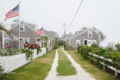 Siasconset Afternoon (DEARTH !) Tags: road travel homes green beach island unitedstates path capecod massachusetts newengland americanflag nantucket dirtroad residential dearth siasconset