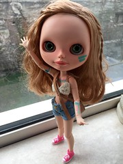 My new girl, Pippa, is ready for the festival season. She has her festival outfit and body paint on and her messy braided hair 😊