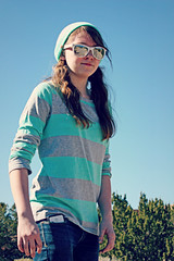 (K. Sawyer Photography) Tags: trees portrait girl sunglasses skateboarding teen skateboard teenager teenage placitasnewmexico