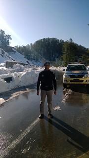 NHMP Pakistan National Highways & Motorway Police Snowfall at Murree Expressway
