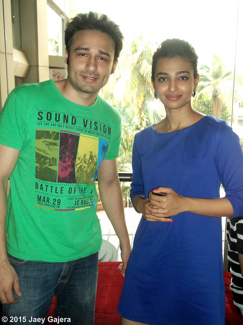 Radhika Apte and Jaey Gajera together at the Special Screening of adult comedy film Hunterrr.  https://twitter.com/JaeyGajeraIndia #GulshanDevaiya #Hunterrr #RadhikaApte #SaiTamhankar #HashvardhanKulkarni #KirtiNakhwa #RohitChugani #KetanMaru #VikasBahl #