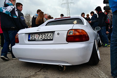 Honda Civic Del Sol (Mateusz Woek) Tags: boss cars ford chevrolet car focus nissan parking fast 7 camaro 427 bmw premiere mustang gt a4 audi katowice lamborghini rs avant 44 furious 302 gallardo punkt kato gtr nismo roush premiera fastfurious szybcy wciekli