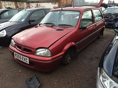 Rover 100 (Sam Tait) Tags: life door england 3 classic cars yard pull metro maroon parts rover retro end 100 scrapyard pick scrap salvage injection rare