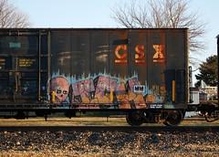 Ich (quiet-silence) Tags: railroad art train graffiti flat yme railcar boxcar graff ich freight ichabod csx fr8 circlet csxt199679
