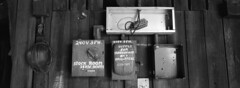 Shipyards 3 (Orion Alexis) Tags: new old light shadow urban panorama white cinema canada black abandoned film blanco westminster vancouver 35mm y action negro warehouse 400 fujifilm boxes fraser shipyard electrical exploration et blanc xpan dockyard noire foma fomapan tx1