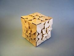 Hydrangea Cube - Meenakshi Mukerji / Shuzo Fujimoto (Rui.Roda) Tags: origami modular cube hydrangea tessellation papiroflexia cubo fujimoto meenakshi mukerji shuzo tecelagem papierfalten tecelado