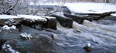 Mtjoki river in Pitjnmki (Helsinki, 20120107) (RainoL) Tags: winter finland river geotagged helsinki january u helsingfors fin rapid 2012 uusimaa nyland mtjoki 201201 20120107 geo:lat=6022040000 geo:lon=2486564900