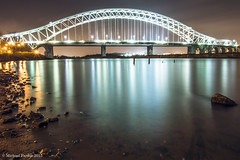 run107 (mickyfooj) Tags: longexposure water night canal runcorn halton silverjubileebridge
