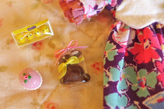 Easter Basket Miniatures (Big Red Angel) Tags: charity easter miniature ooak barbie ellie blythe diorama dollhouse aspca easterbasket cosmia 16scale vainilladolly bigredangel