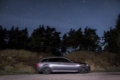 BMW under starry sky (antmcg12) Tags: longexposure sky lightpainting stars slowshutter bmw beacon fell beaconfell 330d e91