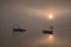 STILLNESS (Mark John Nepomuceno) Tags: mist fog sunrise suffolk nikon riverdeben uklandscape