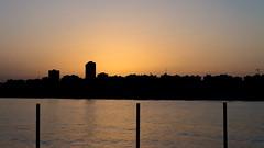 (wingspan91) Tags: city sea beach silhouette skyline sunrise dawn