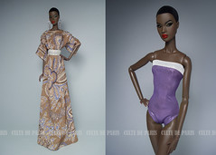 RESORT WEAR 2016 (Culte De Paris) Tags: jason paris beach face fashion de toys outfit model dress julia nu handmade african ooak models knit it wear resort lilac fabric american gift convention wu cinematic fashionista swimsuit kaftan fr couture leroy royalty outfits parisian haute integrity 2016 fr2 culte tunique