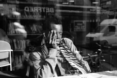 Kentish Town Library - London Street Photography (Nicholas Goodden) Tags: city sleeping portrait people urban blackandwhite bw london relax photography 50mm student candid library sony voigtlander citylife streetphotography sleepy study londres streetphoto unposed studying londra kentishtown urbanlife urbanphotography f15 londoners streetphotographer photoderue notposed streetsoflondon urbanphotographer mirrorless a7rii