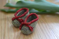 leafy . booties (dear emma rae) Tags: baby spring tulips springflowers babybooties 3monthsold babydress 11weeksold emmarae handmadebaby knitbabydress may2016 dearemmarae