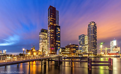 Rotterdam (Martijn Bergsma) Tags: sky city sunset water travel night clouds architecture holland netherlands dutch rotterdam nederland maas rijn wilhelminapier wilhelmina south katendrecht stadsregio hotelnewyork rijnhaven rijnhavenbrug hoerenloper