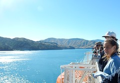 Passengers Admiring Nature's Majesty (mikecogh) Tags: newzealand beauty spectacular landscape coast view passengers queencharlottesound