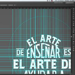 Incondicional de las lneas gua. (Abel Snchez.) Tags: typography design graphicdesign letters wip teacher master lettering vectors saltillo adobeillustrator guidelines goodtype iesec