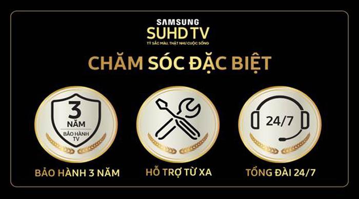 Gói ưu đãi Luxury Care cho Tivi Samsung SUHD