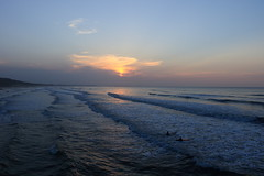As The Sun Goes Down (kpce1960) Tags: sunset cloud weather canon waves 7d