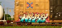 Nero (mightyquinninwky) Tags: graffiti indiana railway tags cargo tagged southernindiana dirt railcar transportation rails spraypaint boxcar streaks nero railfan evansville taf ttx railart spraypaintart movingart benched evansvilleindiana paintedboxcar railcarpoolingexperts