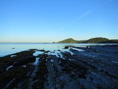 Tidal rocks at Bennett Bay (Ruth and Dave) Tags: rock islands evening coast shoreline rocky calm coastline gulfislands lowtide spines mayneisland bennettbay