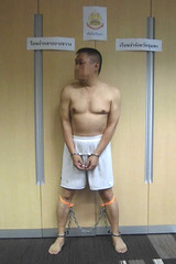 Thai prisoner (asiancuffs) Tags: prison shackles handcuffs arrested arrest prisoner shackled handcuffed