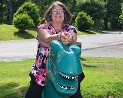 Taming the Dinosaur (RockN) Tags: newyork albany fathersday maryann washingtonpark june2016