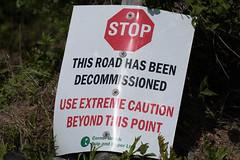 Sign for decommissioned road., Monchy Woods Road (frank.king2014) Tags: road ca canada sign gander decommissioned newfoundlandandlabrador