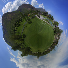Mt Ogden Park Photo Illustration (DennyMont) Tags: panorama photoshop ogden drone tinyplanet