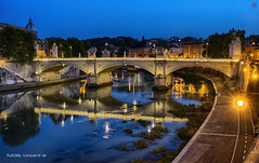 Ponte Sant'Angelo (`/1nc3nt) Tags: italy vatican rome landscape outdoor bluehour pontesantangelo distagont235 nikond800