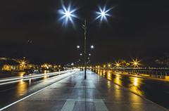 Shining lights. (Pablin79) Tags: street city longexposure light sky cars argentina colors rain night reflections coast outdoor lanterns misiones posadas
