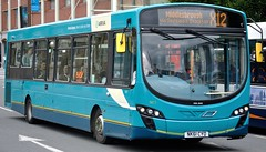 1477 NK61 CYO SERVICE X12 MIDDLESBROUGH VIA SEDGEFIELD & STOCKTON (NorthEastLancs) Tags: 1477 nk61 cyo arriva north east belmont depot vdl sb200 wright pulsar 2