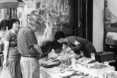 Shopping in Chinatown #6 (absolutman) Tags: fishmarket chinatown market scale shopping newyorkcity fish sonya6000 blackandwhite bw streetphotography groceries ice outdoor