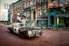 Universal - Serve and Protect (Jeff Krause Photography) Tags: alley back blues bokeh brothers car delancy megaphone music orlando pano panorama park police protect serve speaker street studios uso universal vehical theme